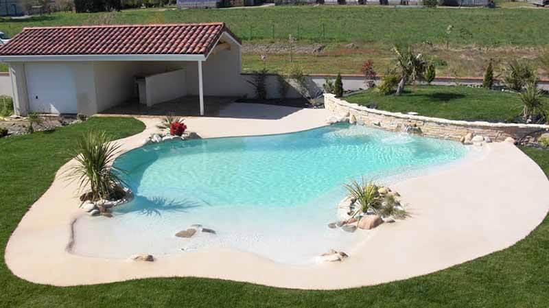 Piscinas de arena piscinas tipo playa privada for Materiales para construir una alberca